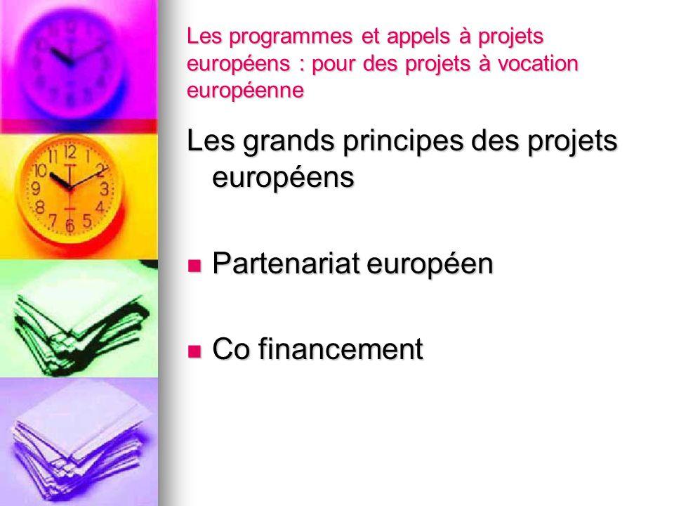 Les grands principes des projets européens