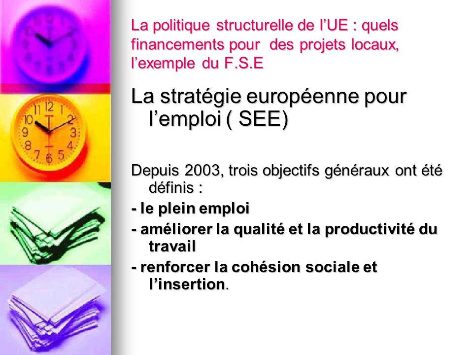 La stratégie européenne pour l'emploi ( SEE)