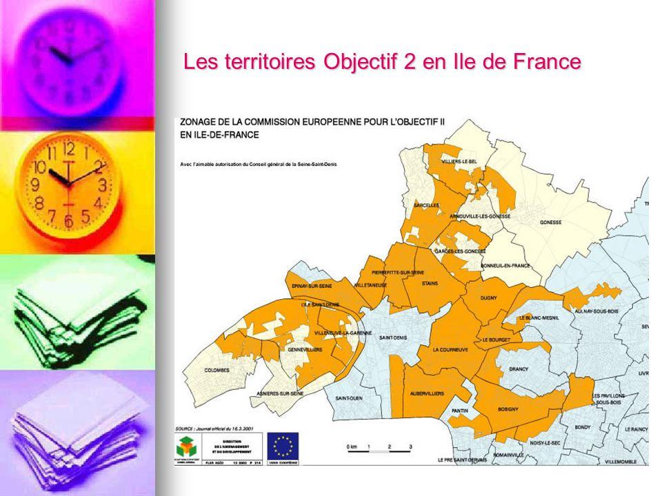Les territoires Objectif 2 en Ile de France