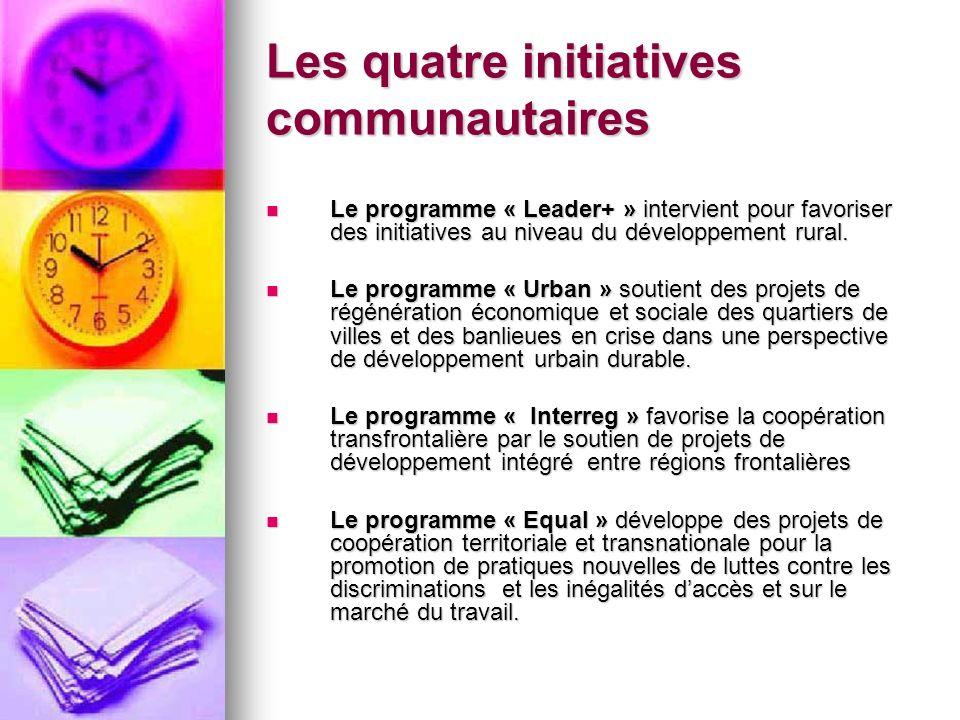 Les quatre initiatives communautaires
