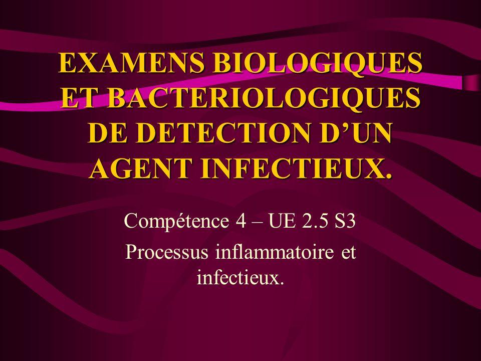 Compétence 4 – UE 2.5 S3 Processus inflammatoire et infectieux.