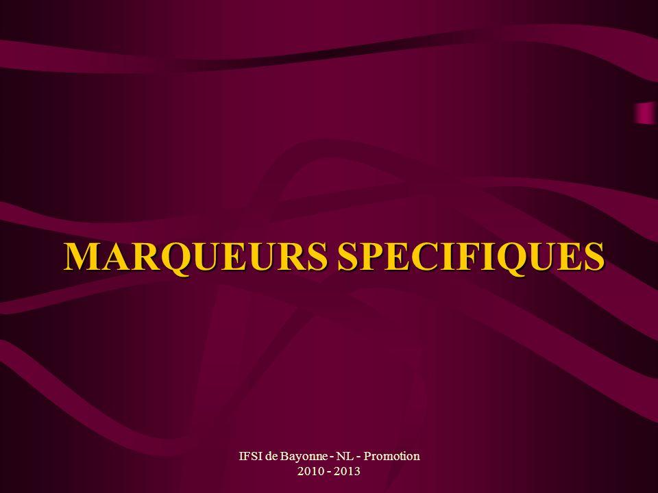 MARQUEURS SPECIFIQUES