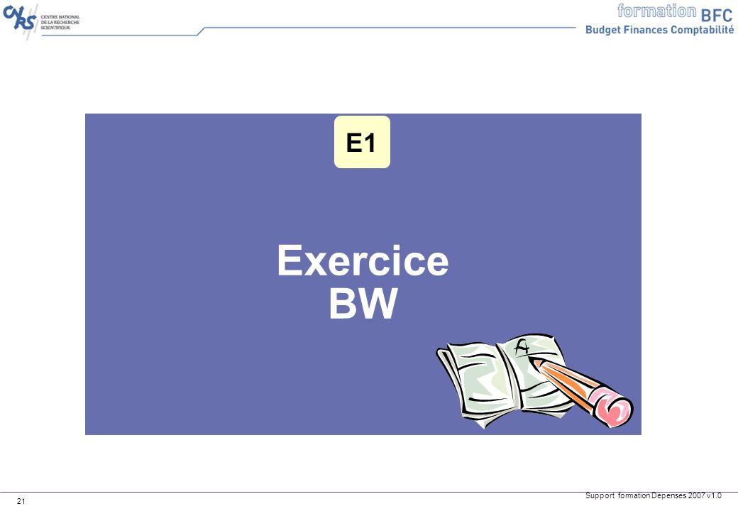 E1 Exercice BW