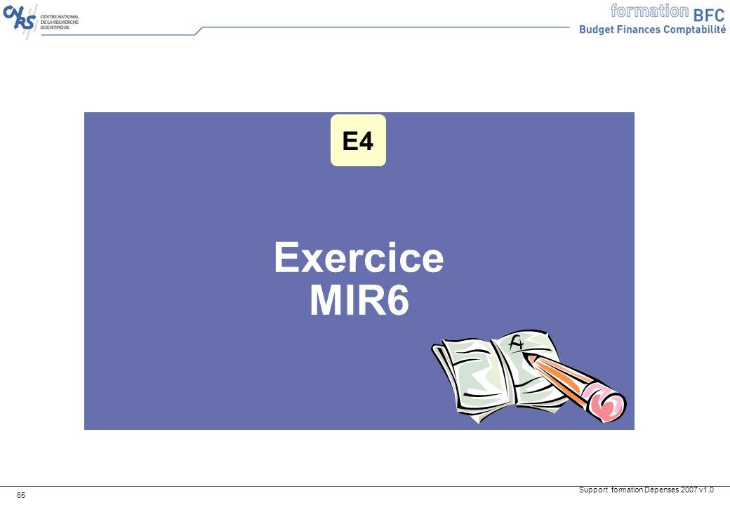E4 Exercice MIR6