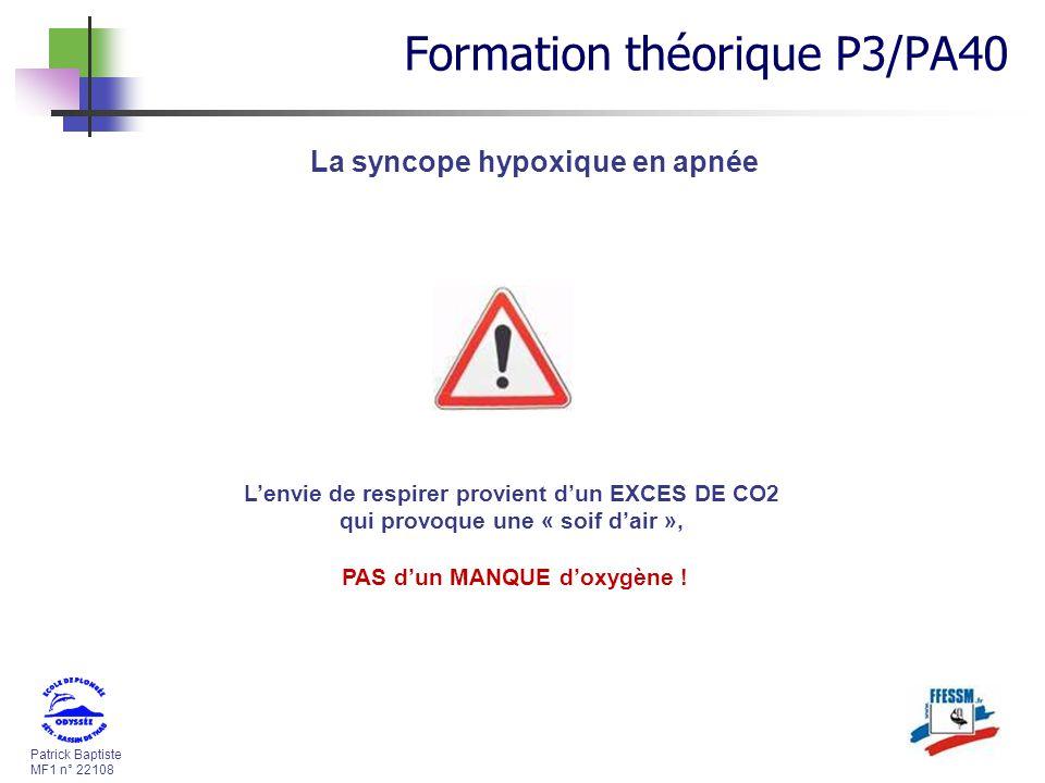 La syncope hypoxique en apnée PAS d'un MANQUE d'oxygène !