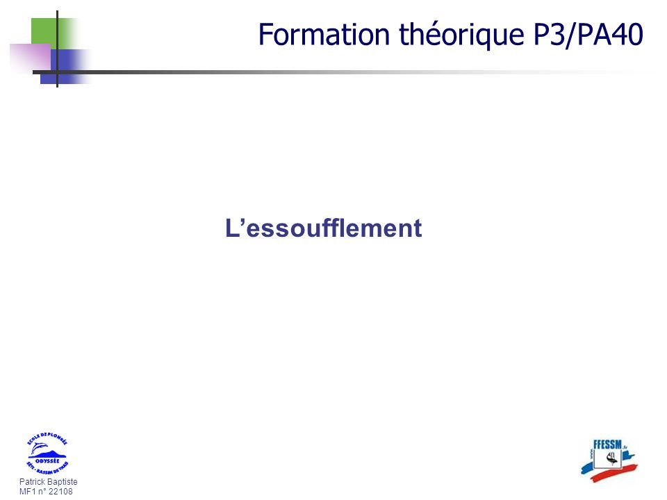 Formation théorique P3/PA40