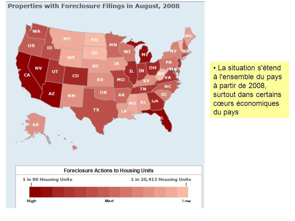 La situation s étend à l ensemble du pays à partir de 2008, surtout dans certains cœurs économiques du pays