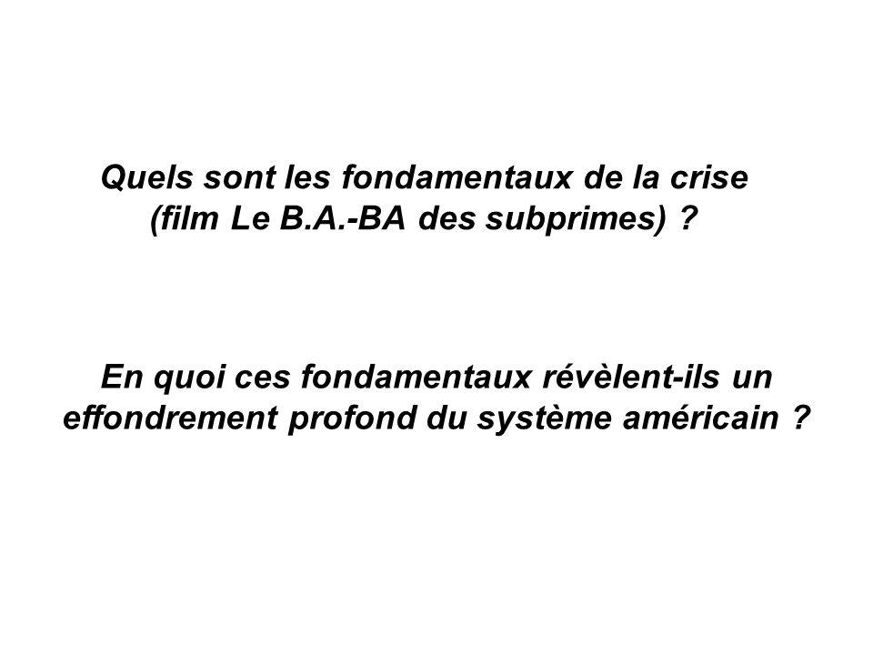 Quels sont les fondamentaux de la crise (film Le B. A