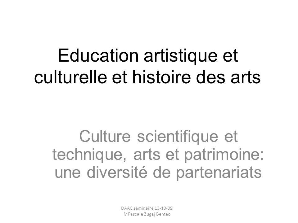 Education artistique et culturelle et histoire des arts
