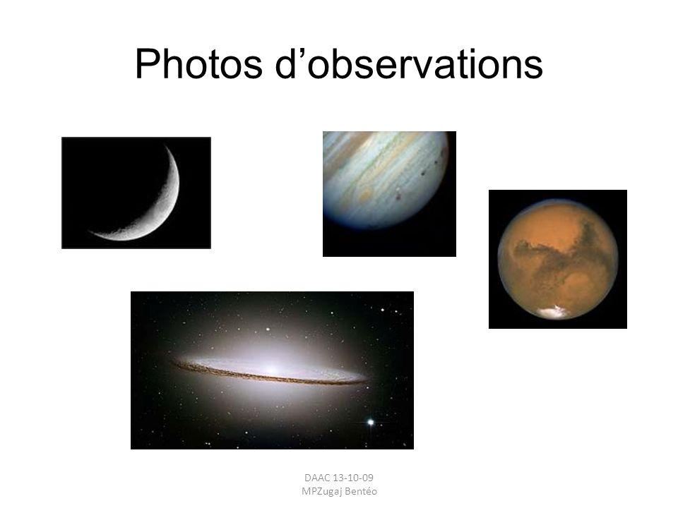 Photos d'observations