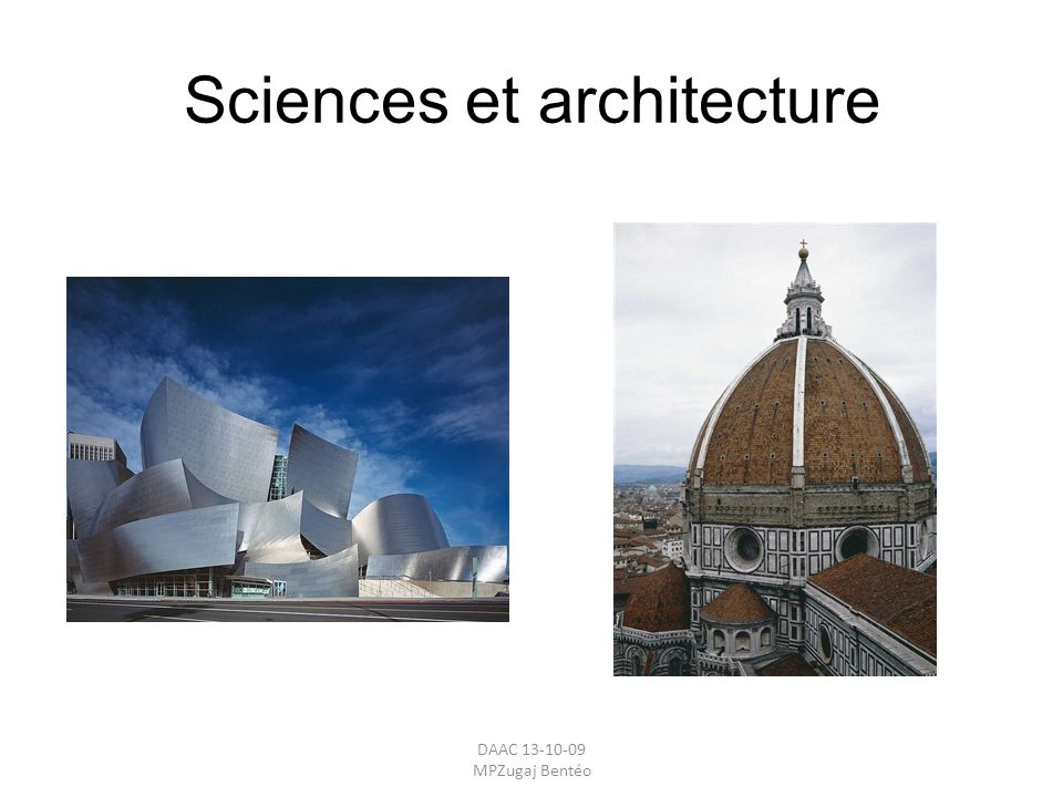 Sciences et architecture