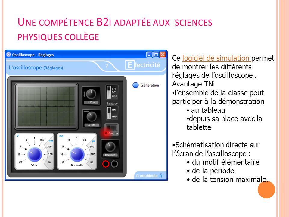 Une compétence B2i adaptée aux sciences physiques collège