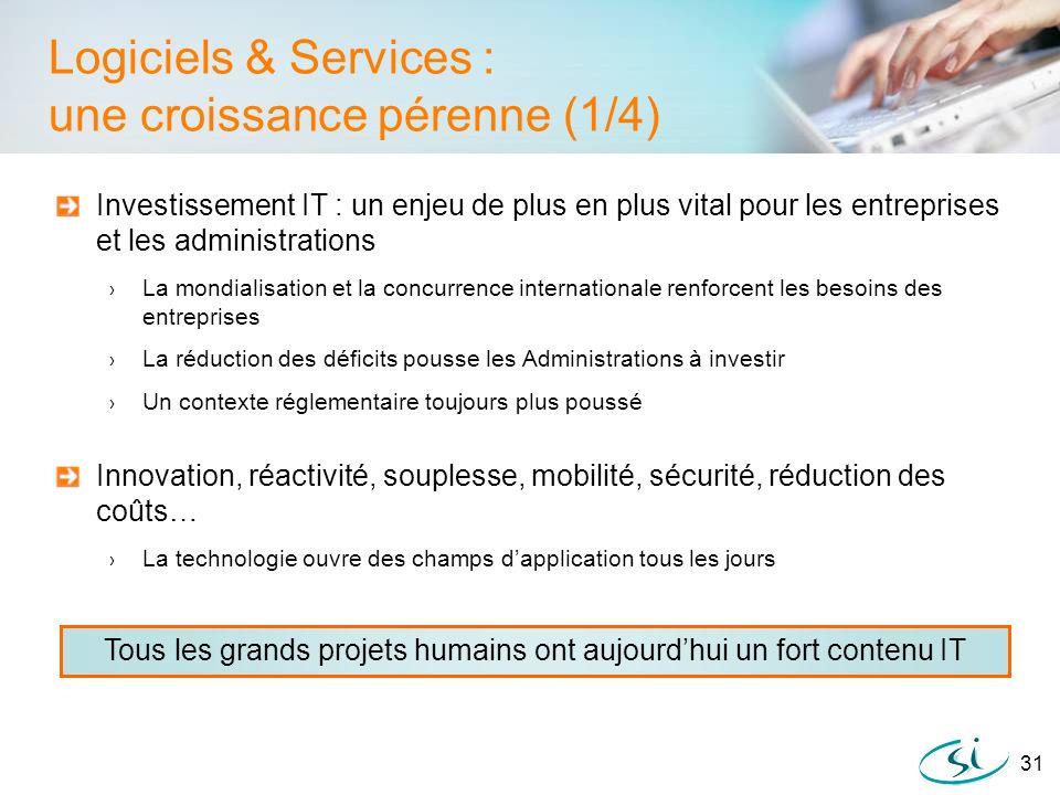 Logiciels & Services : une croissance pérenne (1/4)