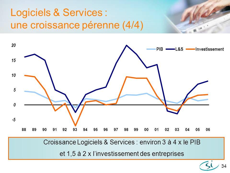 Logiciels & Services : une croissance pérenne (4/4)