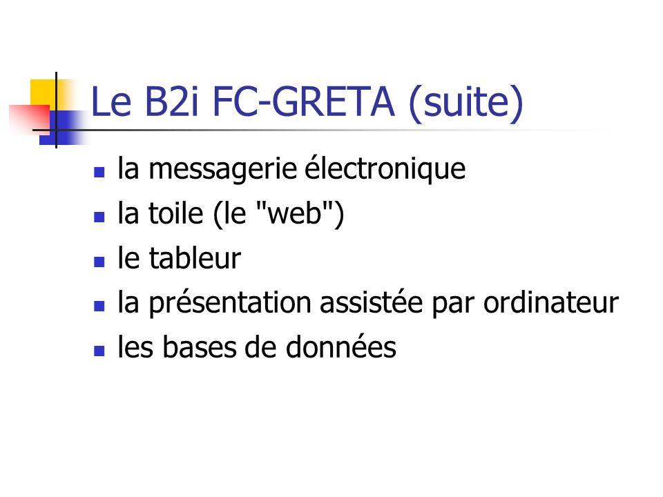 Le B2i FC-GRETA (suite) la messagerie électronique la toile (le web )