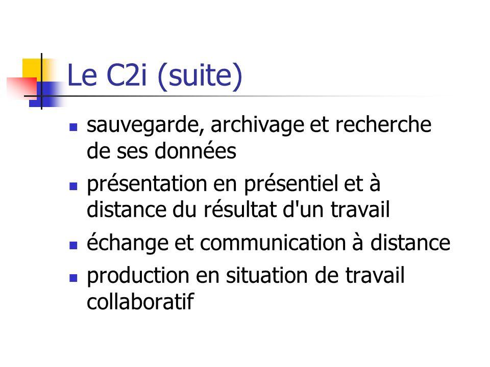 Le C2i (suite) sauvegarde, archivage et recherche de ses données