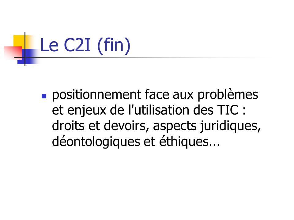 Le C2I (fin)