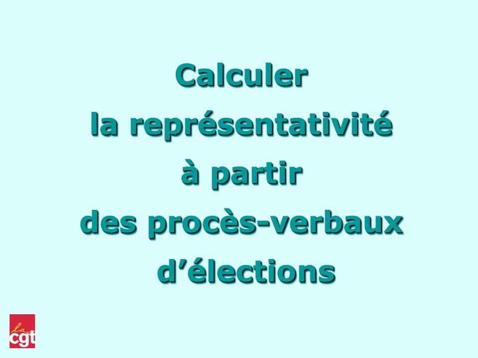 Calculer la représentativité à partir des procès-verbaux d'élections