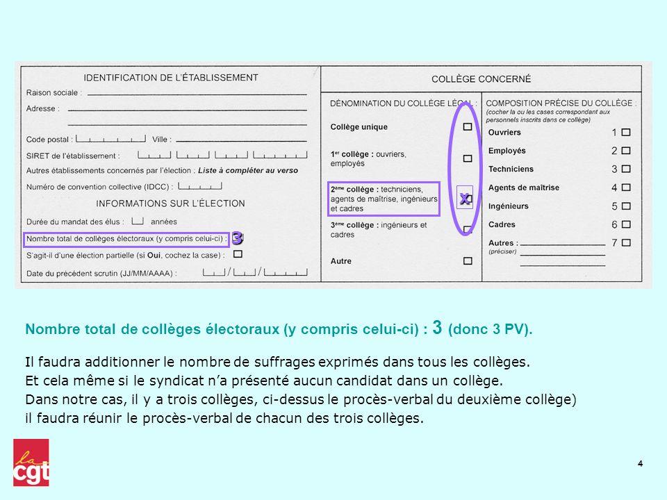 x 3. Nombre total de collèges électoraux (y compris celui-ci) : 3 (donc 3 PV).