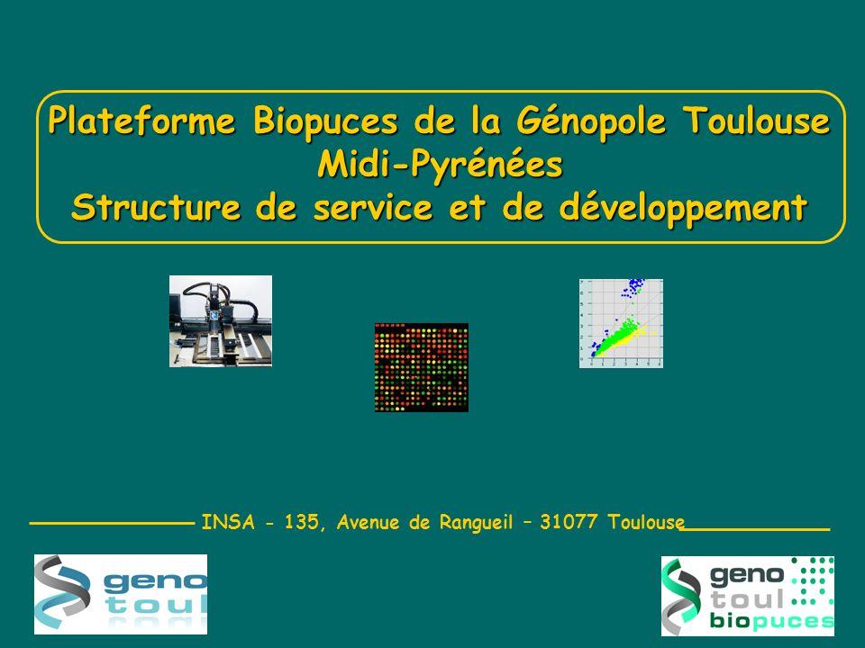 Plateforme Biopuces de la Génopole Toulouse Midi-Pyrénées