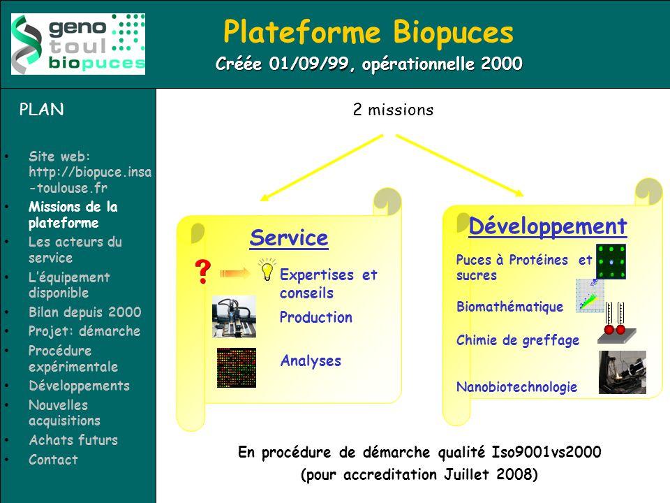 Plateforme Biopuces Développement Service