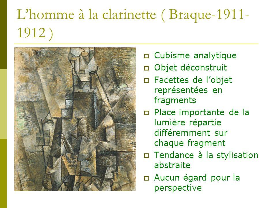 L'homme à la clarinette ( Braque-1911-1912 )