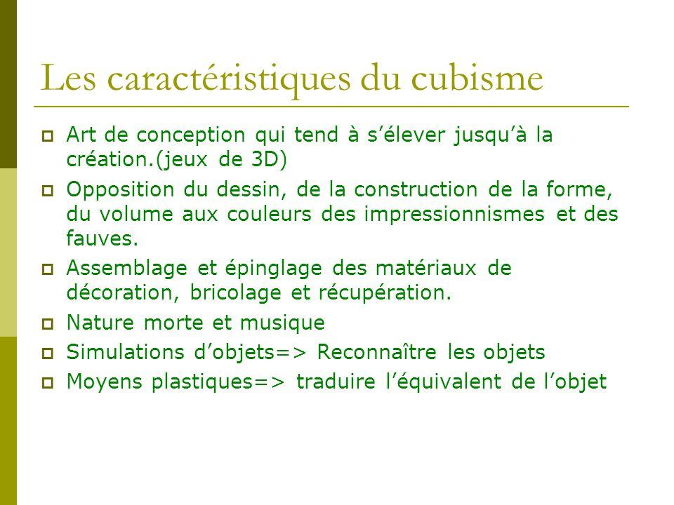 Les caractéristiques du cubisme