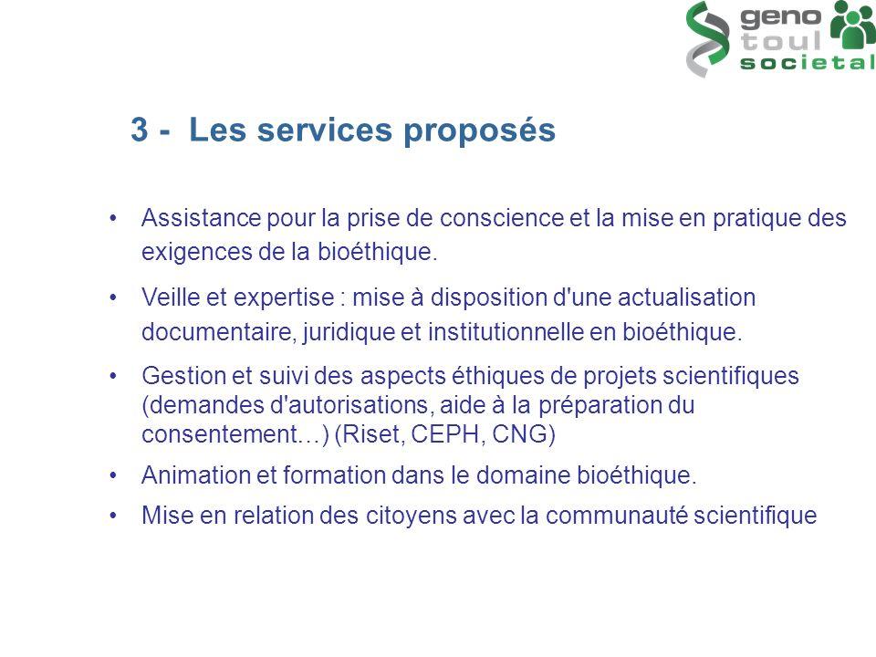 3 - Les services proposés