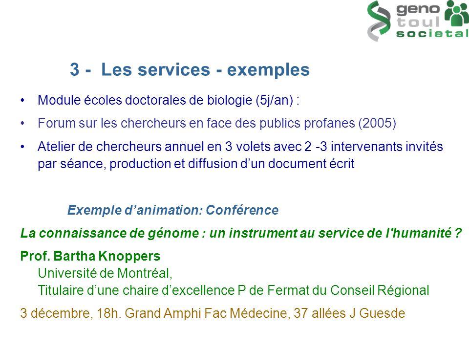 3 - Les services - exemples