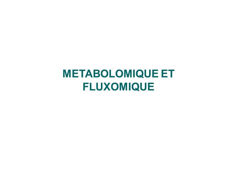 METABOLOMIQUE ET FLUXOMIQUE