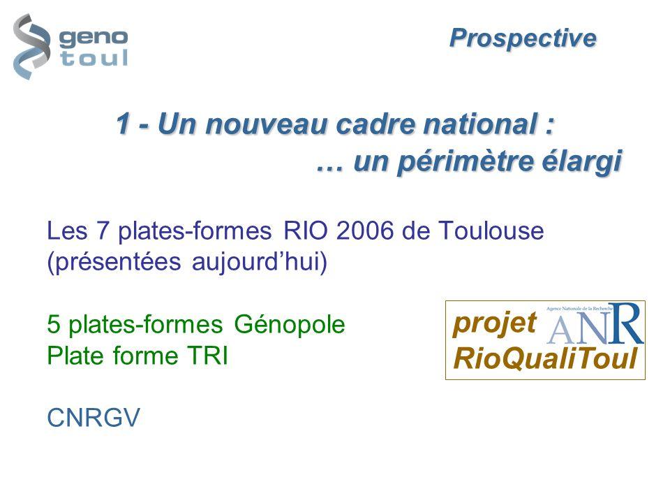 Prospective. 1 - Un nouveau cadre national :