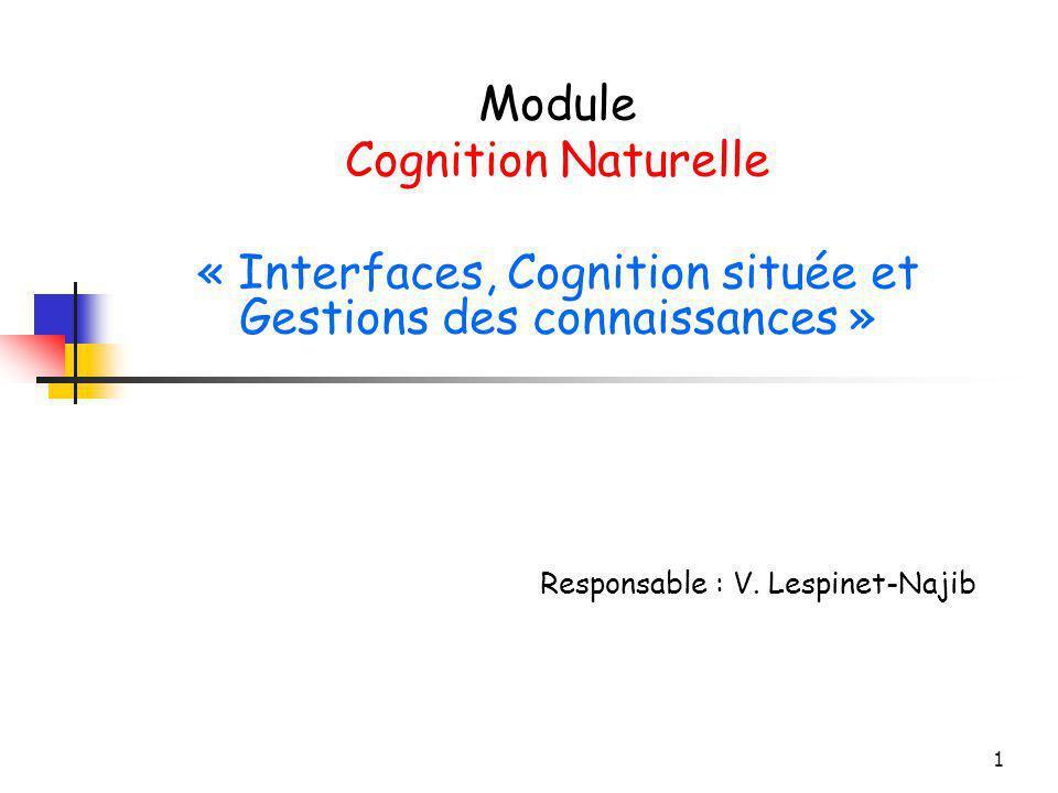 « Interfaces, Cognition située et Gestions des connaissances »