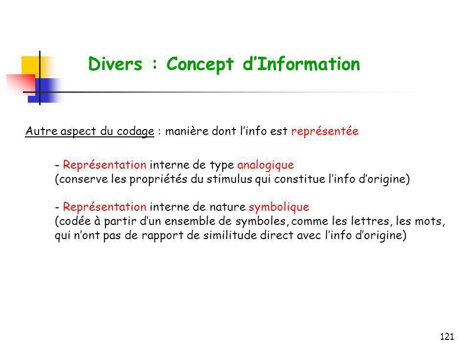 Divers : Concept d'Information