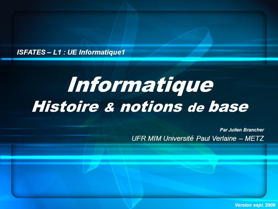 Histoire & notions de base