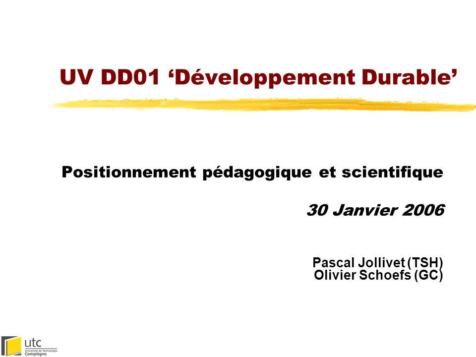 UV DD01 'Développement Durable'