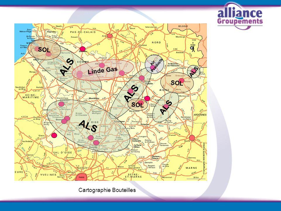 ALS ALS ALS ALS SOL Linde Gas SOL SOL ALS Cartographie Bouteilles