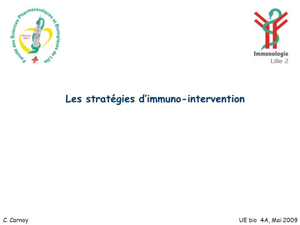Les stratégies d'immuno-intervention