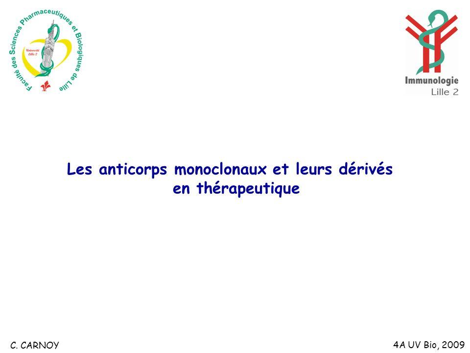 Les anticorps monoclonaux et leurs dérivés