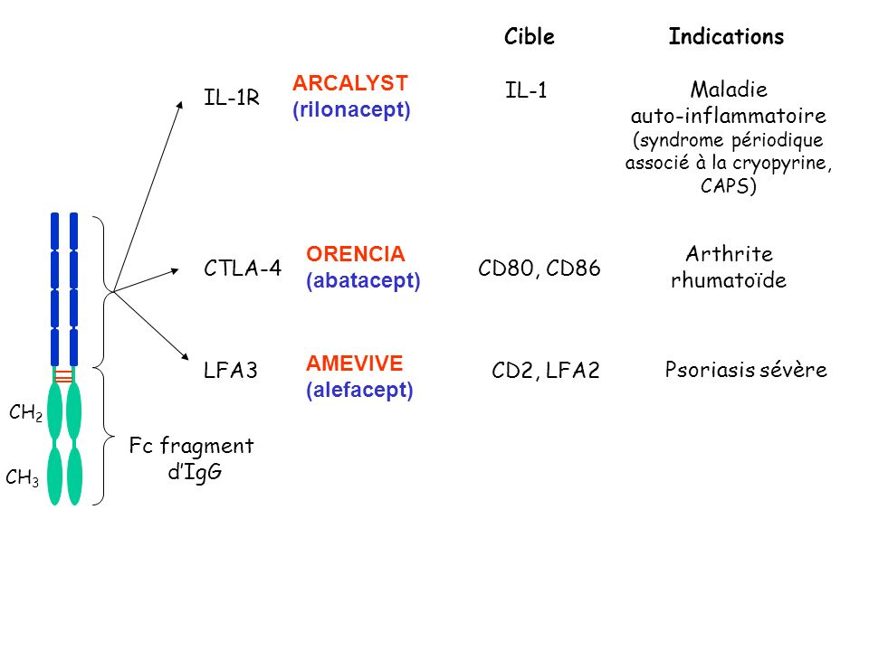 (syndrome périodique associé à la cryopyrine, CAPS)
