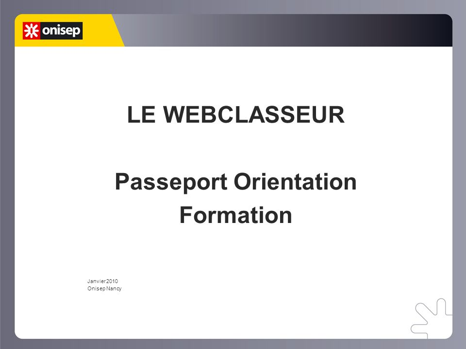 Passeport Orientation