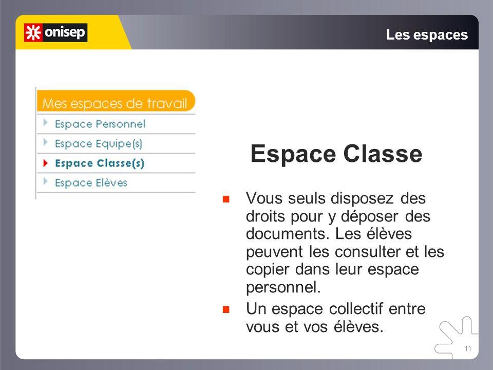 Les espaces Espace Classe.