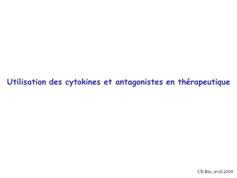 Utilisation des cytokines et antagonistes en thérapeutique