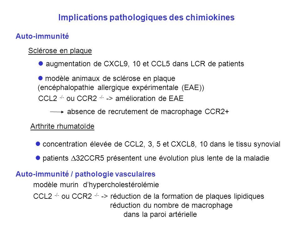 Implications pathologiques des chimiokines