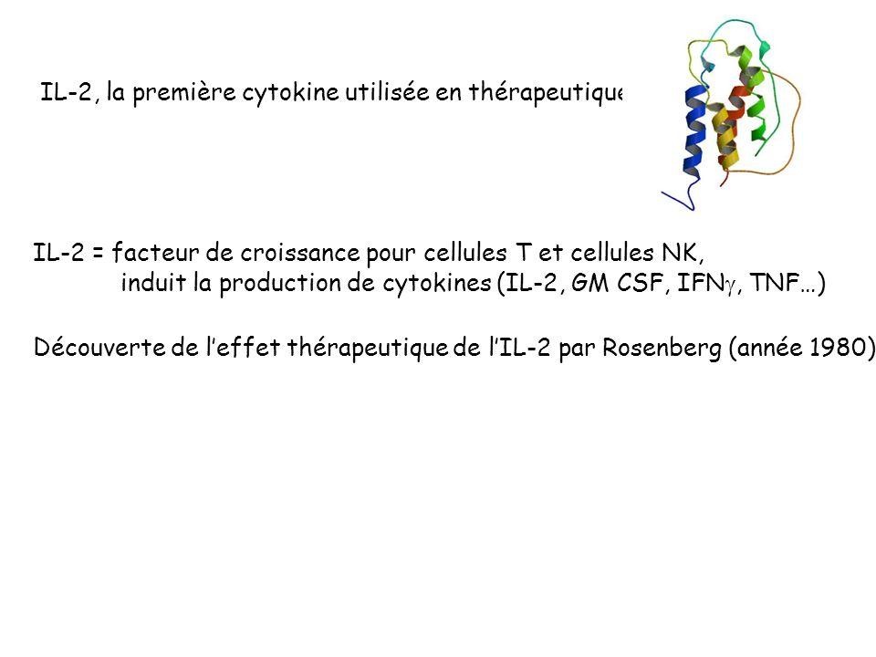 IL-2, la première cytokine utilisée en thérapeutique