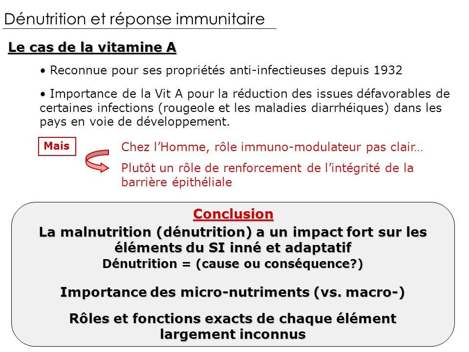 Dénutrition et réponse immunitaire