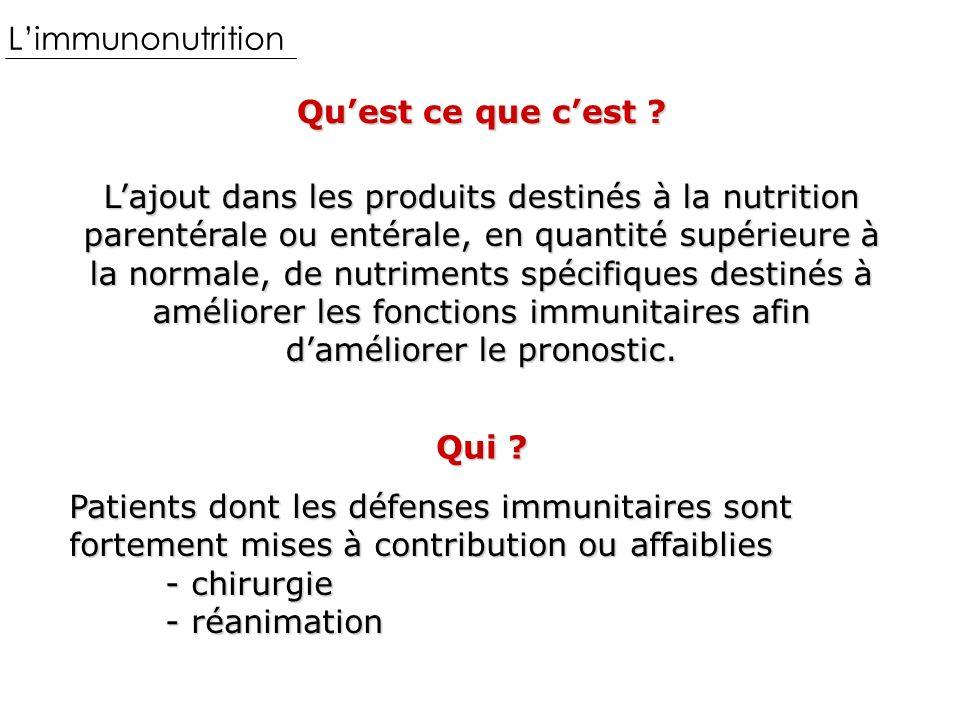 L'immunonutrition Qu'est ce que c'est