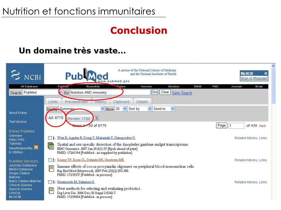 Nutrition et fonctions immunitaires