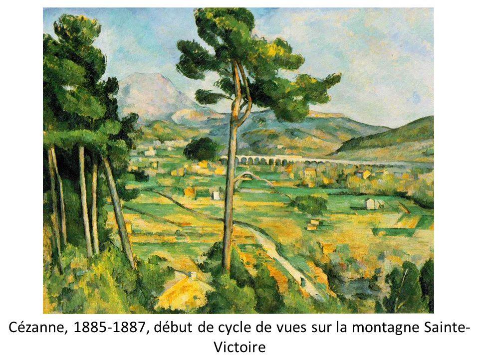 Cézanne, 1885-1887, début de cycle de vues sur la montagne Sainte-Victoire