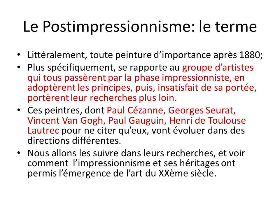Le Postimpressionnisme: le terme