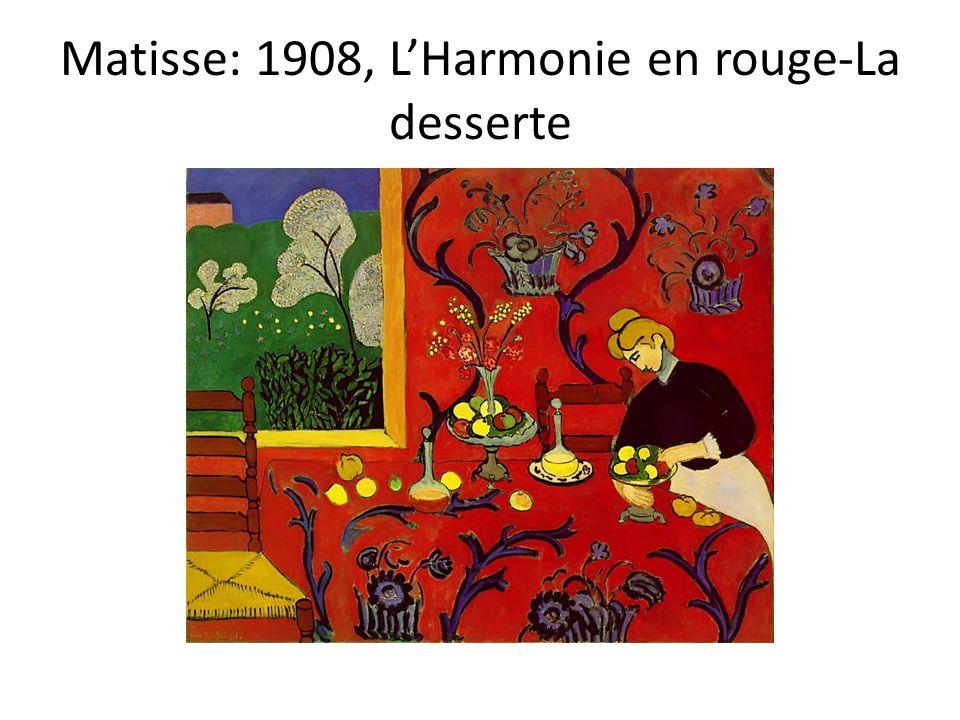 Matisse: 1908, L'Harmonie en rouge-La desserte